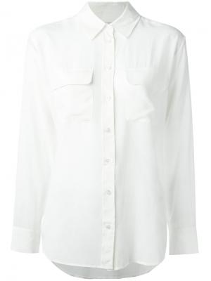 Рубашка с карманом Equipment. Цвет: белый