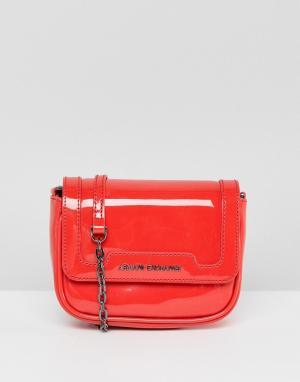 Armani Exchange Красная сумка через плечо с ремешком-цепочкой. Цвет: красный