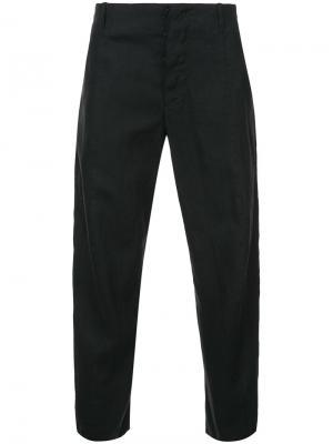 Классические укороченные брюки Forme Dexpression D'expression. Цвет: чёрный