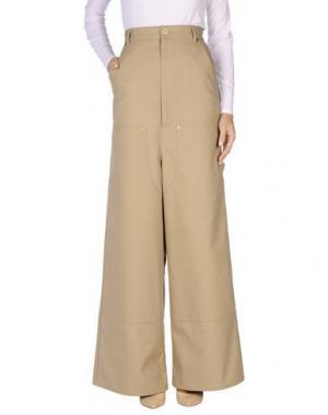 Повседневные брюки VETEMENTS. Цвет: хаки