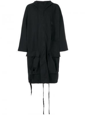 Пальто свободного кроя Thom Krom. Цвет: синий