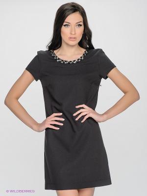 Платье LUIGI FERRO. Цвет: черный