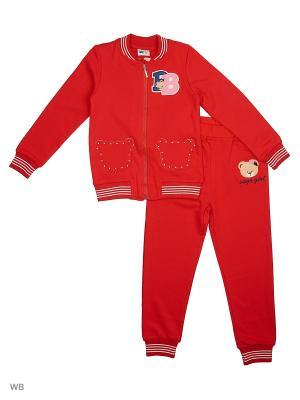 Толстовка и брюки Sago Kids i Ant Domain. Цвет: красный