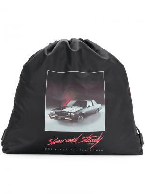 Рюкзак со сборкой Slow and Steady Alexander Wang. Цвет: чёрный