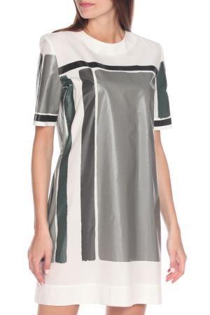 Платье Marni. Цвет: белый, серый