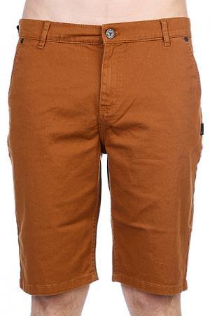 Классические мужские шорты  Byron Chino Short Khaki Fallen. Цвет: коричневый