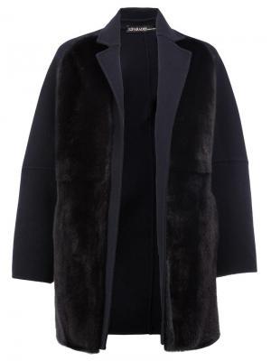 Двустороннее норковое пальто 32 Paradis Sprung Frères. Цвет: чёрный