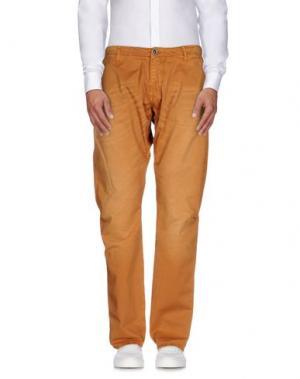 Повседневные брюки REIGN. Цвет: охра