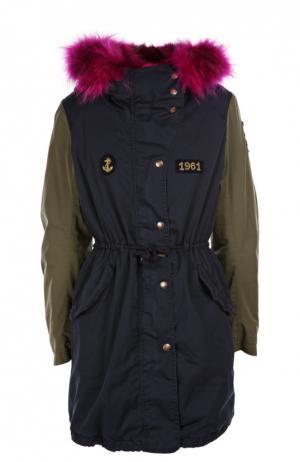Куртка History Repeats by Femme. Цвет: синий