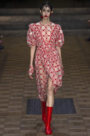 Кожаные сапоги Simone Rocha. Цвет: красный