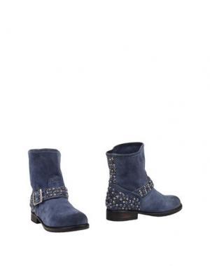 Полусапоги и высокие ботинки MR. WOLF. Цвет: синий