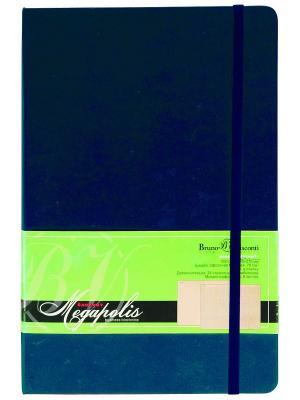 Блокнот Megapolis Journal, А6 Bruno Visconti. Цвет: синий