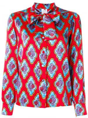 Блузка с цветочной вышивкой и завязкой Ultràchic. Цвет: красный