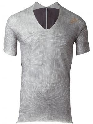 Полупрозрачная футболка Label Under Construction. Цвет: серый