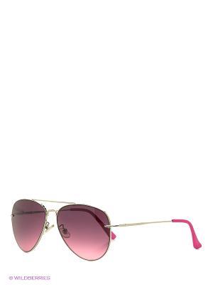 Солнцезащитные очки Oodji. Цвет: бордовый, серебристый, фуксия