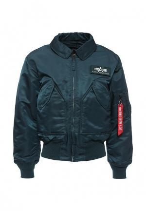 Куртка утепленная Alpha Industries. Цвет: синий