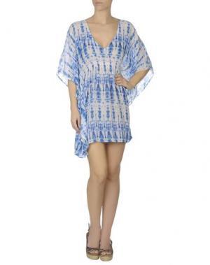 Пляжное платье ECHO. Цвет: лазурный