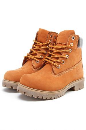 Ботинки женские Excavator. Цвет: оранжевый