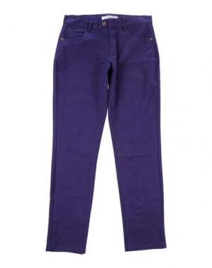 Повседневные брюки COTTON BELT. Цвет: фиолетовый