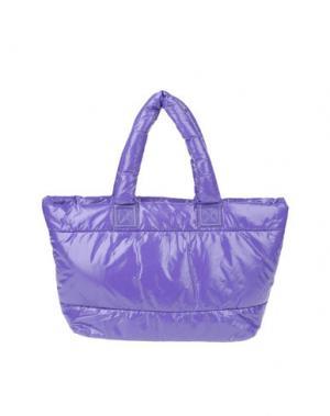 Большая сумка из текстиля PAPÀ RAZZI. Цвет: фиолетовый