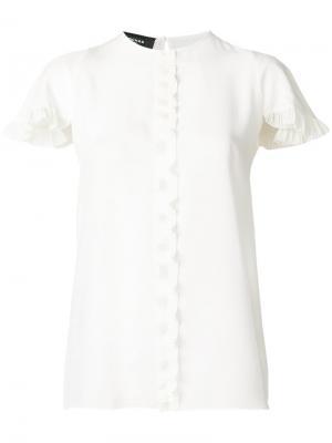 Блузка на пуговицах Rochas. Цвет: белый