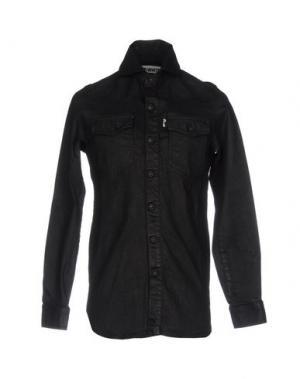 Джинсовая рубашка OFF WHITE c/o VIRGIL ABLOH. Цвет: черный
