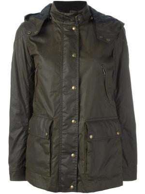 Куртка с накладными карманами Belstaff. Цвет: зелёный