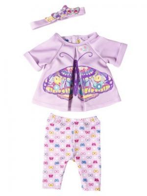 Игрушка BABY born Удобная одежда для дома, веш ZAPF. Цвет: розовый, сиреневый