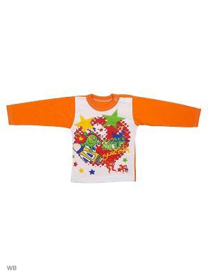 Кофточка Babycollection. Цвет: оранжевый, белый