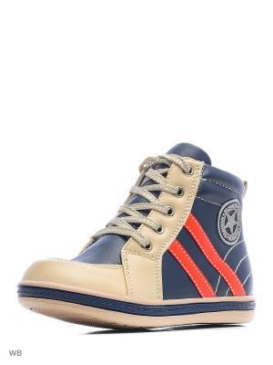 Ботинки San Marko. Цвет: темно-синий, бежевый