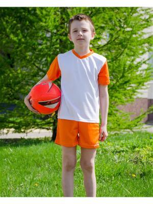 Комплект спортивной формы МИКИТА. Цвет: белый, оранжевый