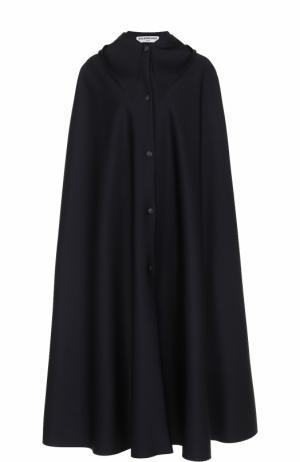 Плащ свободного кроя с капюшоном Balenciaga. Цвет: черный