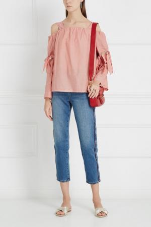 Блузка с открытыми плечами Designers Remix. Цвет: розовый