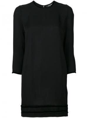 Платье шифт с длинными рукавами Dsquared2. Цвет: чёрный