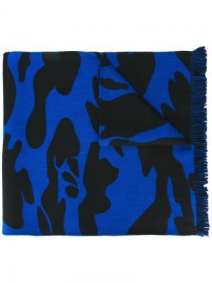 Шарф с камуфляжным рисунком Hydrogen. Цвет: синий