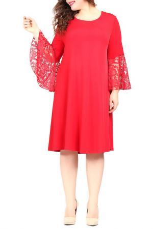 Платье VALERIA FRATTA. Цвет: красный