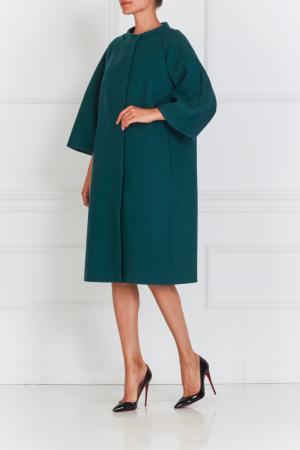 Пальто с декором на спине NATALIA GART. Цвет: зеленый
