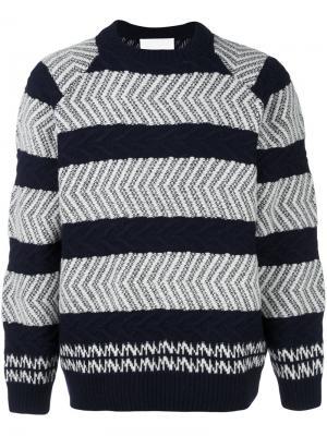 Фактурный свитер White Mountaineering. Цвет: синий