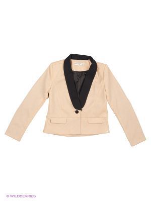 Пиджак, Jovita, цвет бежевый/черный (Blush/Black) SUPERTRASH. Цвет: черный, бежевый