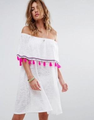 Pitusa Платье мини Ibiza. Цвет: белый