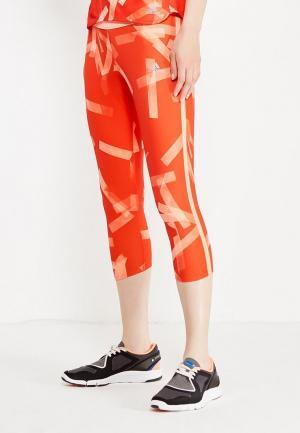 Тайтсы adidas Performance. Цвет: оранжевый