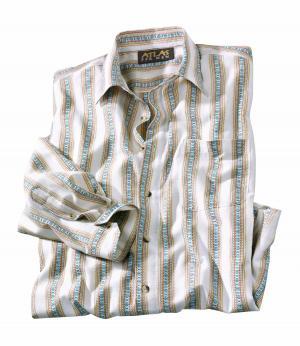 Рубашка из Поплина AFM. Цвет: декоративныи