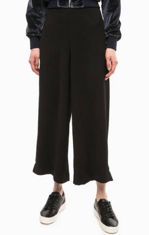 Черные трикотажные брюки кюлоты Religion. Цвет: черный