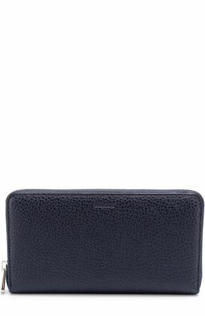 Кожаный бумажник на молнии с отделением для монет Bally. Цвет: темно-синий