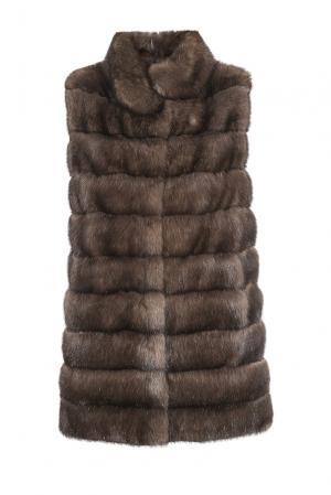 Жилет из меха соболя 181567 Pt Quality Furs. Цвет: коричневый
