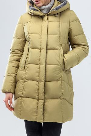 Куртка зимняя Clasna. Цвет: горчичный