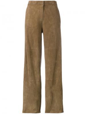 Свободные брюки Origano Desa Collection. Цвет: коричневый