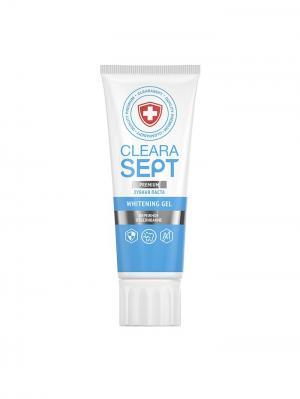 Гелевая зубная паста WHITENING GEL  Бережное отбеливание, ClearaSept 75мл.. Цвет: белый