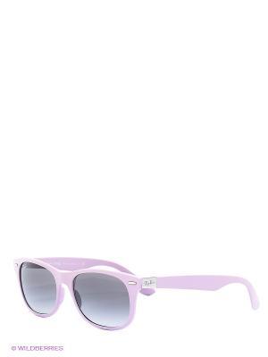 Очки солнцезащитные Ray Ban. Цвет: лиловый, черный
