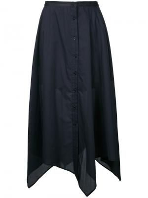 Длинная юбка на пуговицах Lemaire. Цвет: чёрный